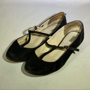 Urban Outfitters Black T-Strap Flats, Size 8